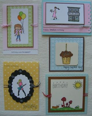 5 Birthday Cards