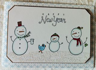Snowpeople Happy New Year