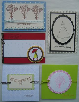 Embossed 5 Cards