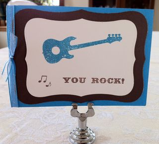 You Rock Embossed