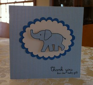 Blue Elephant Thank You