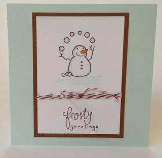 Frosty Greetings with Twine