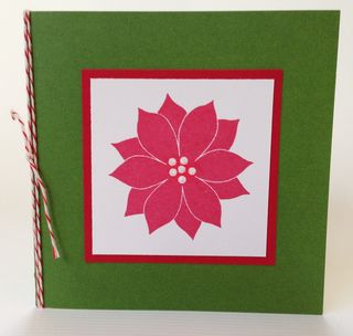 Poinsettia with Twine