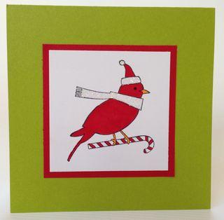 Candy Cane Cardinal