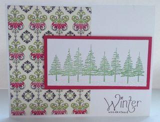 Tree Line Winter Wonderland