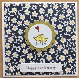 Love Birds Happy Anniversary