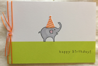Elephant Hat Happy Birthday